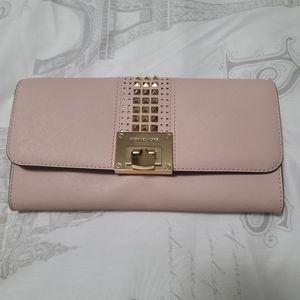 Michael kors pink clutch/purse